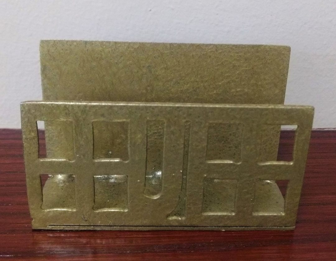 Business Card holder made of steel