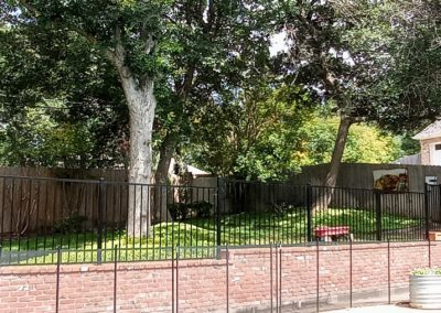 Woodway Residential Yard Fencing